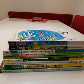 Assessment books for Primary 3 and Primary 4. Unused