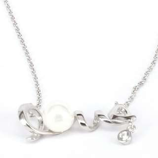 💕Lovely love shell pearl silver 925 necklace