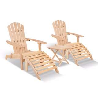 5-piece Adirondack Beach Chair and Table Set SKU: ODF-BEACH-SET-5NW