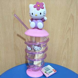 Hello kitty spiral straw cup