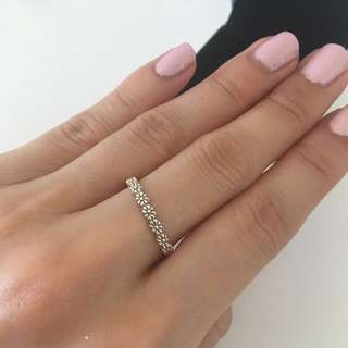 Sterling silver ring size 52