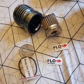 Flo oil filters stainless steel re usable oil filter