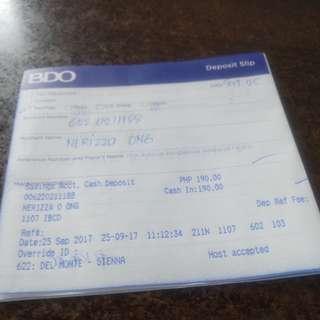 BDO Payment