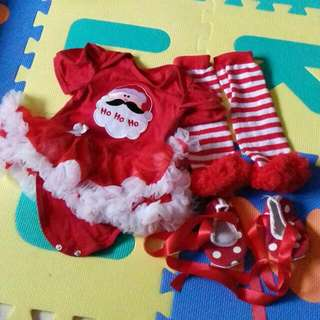 Christmas Baby Romper Set Size 6M