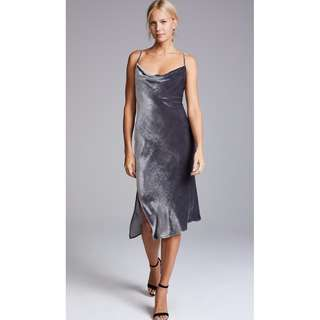 BNWT AG Adriano Goldschmied Gia Dress - Grey Silver Velvet - XS