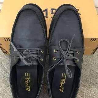 Amble Anvil Slipper Black Shoes