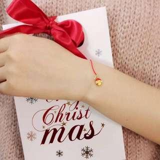 聖誕節系列🎄999足金可愛立體硬金手鏈🎁全新聖誕禮物限定款禮盒包裝