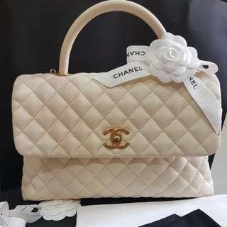 Preloved Chanel coco handle cav ivory