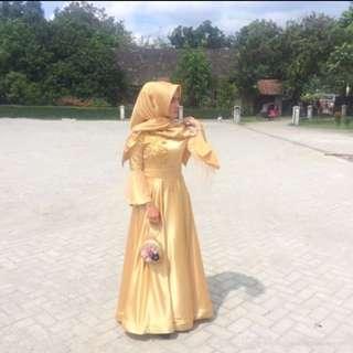 gold dress (pinggang full payet keliling)