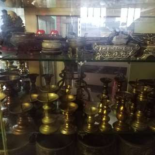 各式中古銅爐~燭台~香爐~出清