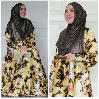 Dress yellow flower