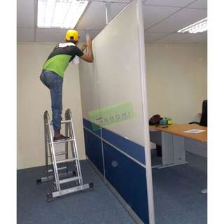 Floor TO Ceiling Divider Office Partition :)