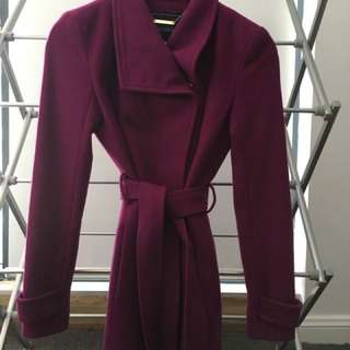 Women's wool coat Forever New size 6 purple