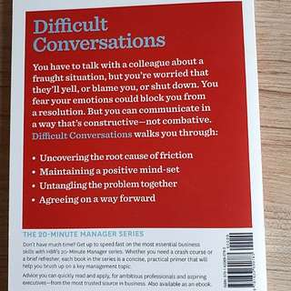 brand new book! Managing Difficult Conversations by Harvard Business Review