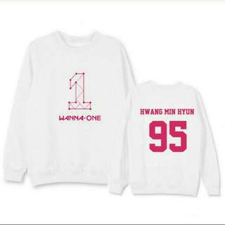 👕WANNA ONE SWEATSHIRT (with all members name)