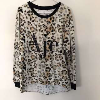 New Aje UNWORN signature logo long sleeve top leopard Thurley Zimmermann Sass and Bide ksubi Alice McCall