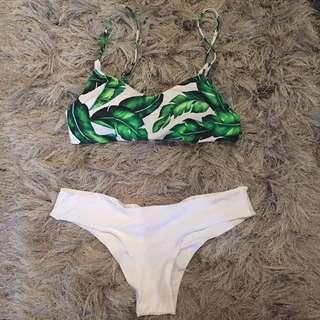 Palm bikini straps