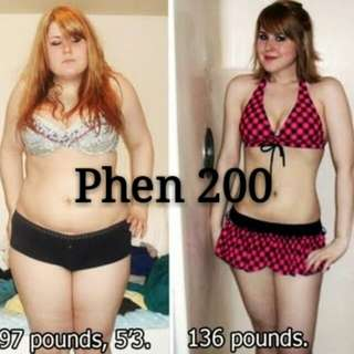 Phen 200 + curb appetite + burn fats + increase energy level
