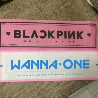 [MEGA SALE] Wanna One & Blackpink Slogan (Banner)