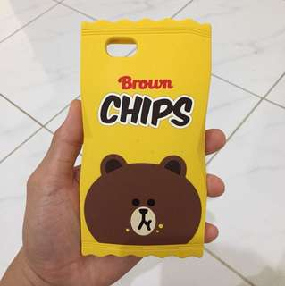Iphone 6 case Line Brown
