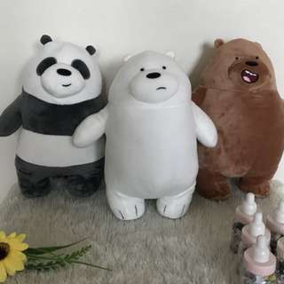 We Bare Bear Plushies (11 inches)