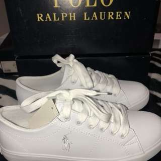 White polo Ralph Lauren shoe sneakers