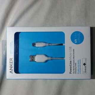Anker Powerline Micro USB(6ft) White