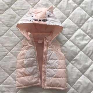 REDUCED: Sleeveless Kitty Cat Bubble Jacket