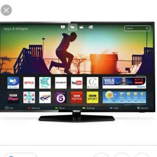 Tv Phillips 43inch smart 4k