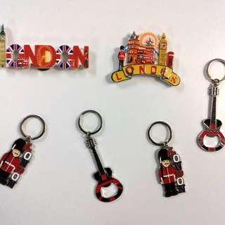 London Fridge Magnets & Keychains