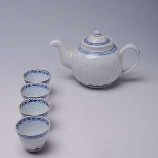 景德鎮早期出口玲瓏瓷茶具