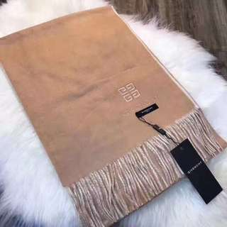GIVENCHY紀梵希素色雙面刺繡圍巾