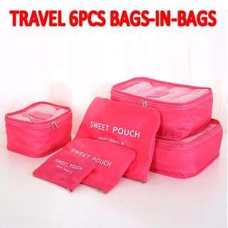 TST010 Travel Clothes Organizer Storage bags Laundry Pouch 6 pieces set