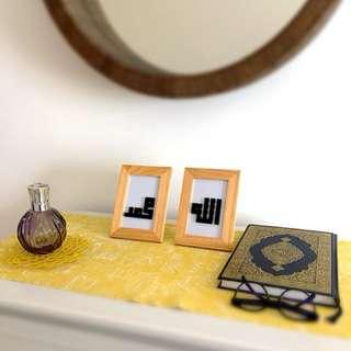Allah and Muhammad perler beads
