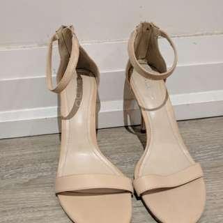 Aldo Nude Minimalist Sandals