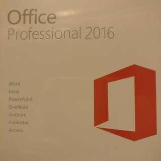 全新未開封原裝正版MicrosoftOffice 2016professional 專業版 軟件 OEM key 英文版(可轉中文), 一用戶