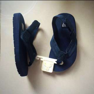 Authentic GAP Baby / Toddler Navy Blue Suede Ankle-Strap Flip Flops Sandals