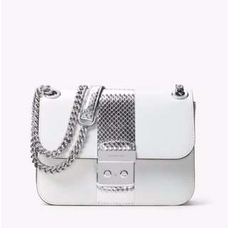Michael Kors Sloan Editor - Optic White Silver