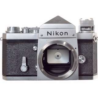 Nikon F Body with plain prism view finder