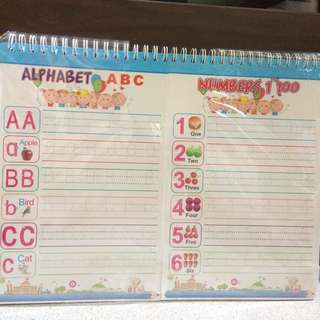 Rewritable Learning Alphabet and Numbers