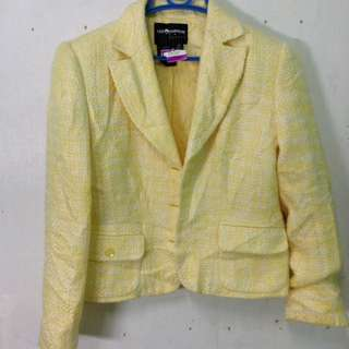Yellow Blazer Knitted Fabric