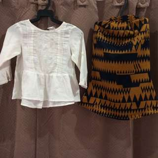 H&M Baby Blouse & Skirt