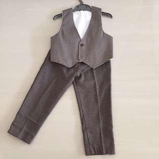Boy's vest and long pant suit