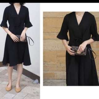 Draw String V-Neck Dress $9.00 [actual at $26.90]