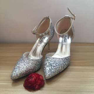 銀色閃閃 結婚高跟鞋 婚後物資