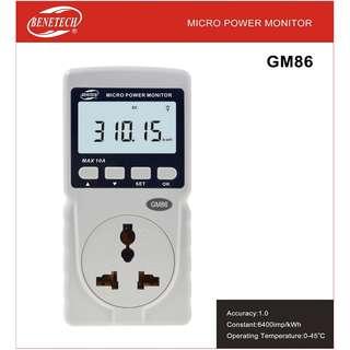 Benetech GM86 Mini Power Meter WattMeter Watt Meter Wattage Monitor