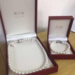 [減價] 周大福珍珠項鍊&手鍊,有單