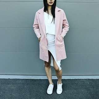 Baby pink felt coat