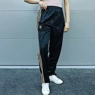 Adidas tracksuit pants gold detail