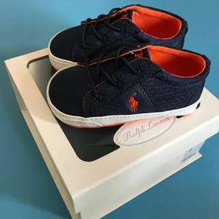Polo Ralph Lauren 男童鞋 Felixstow Ripstop Sneaker, Navy
